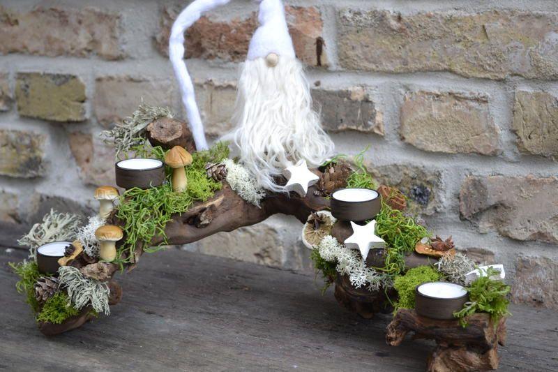 adventsgesteck gipfelst rmer 1 von moneria auf dawanda. Black Bedroom Furniture Sets. Home Design Ideas