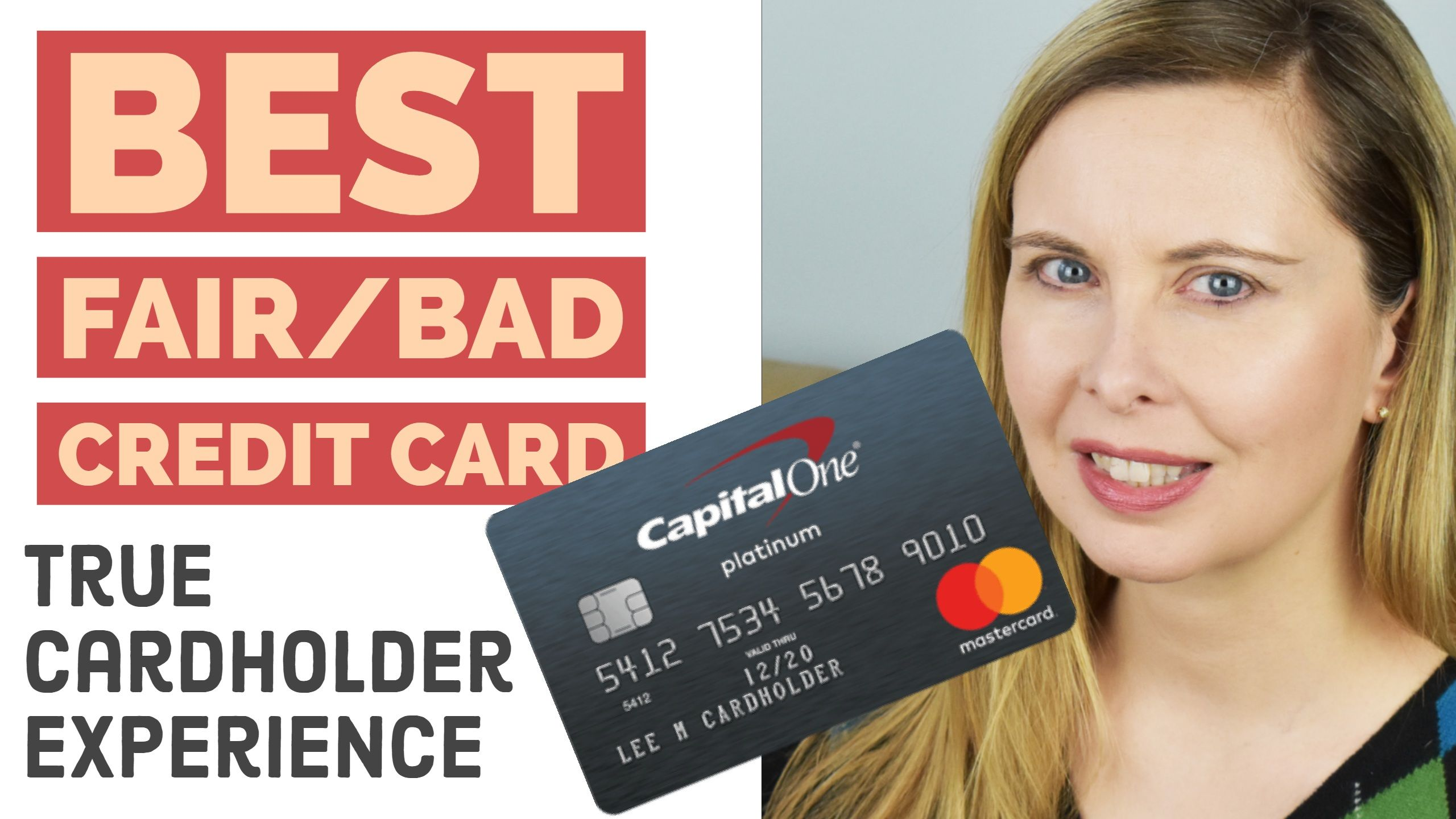 Capital One Platinum Youtube Review For People With Average Or