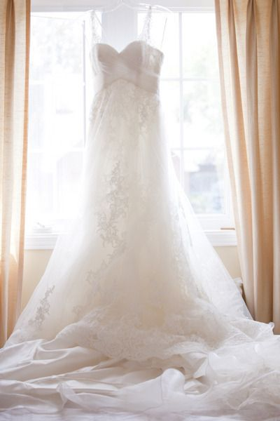 luxe wedding gown.