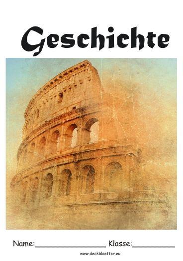 Deckblatt Geschichte Schule | Schule | Pinterest | Deckblatt