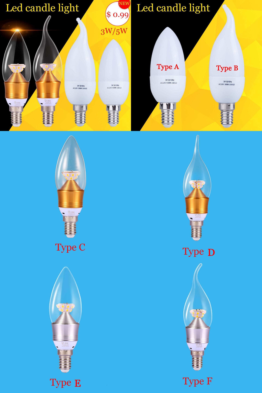 Visit To Buy Bombillas Led E14 220v Candle Light Bulb 3w 5w