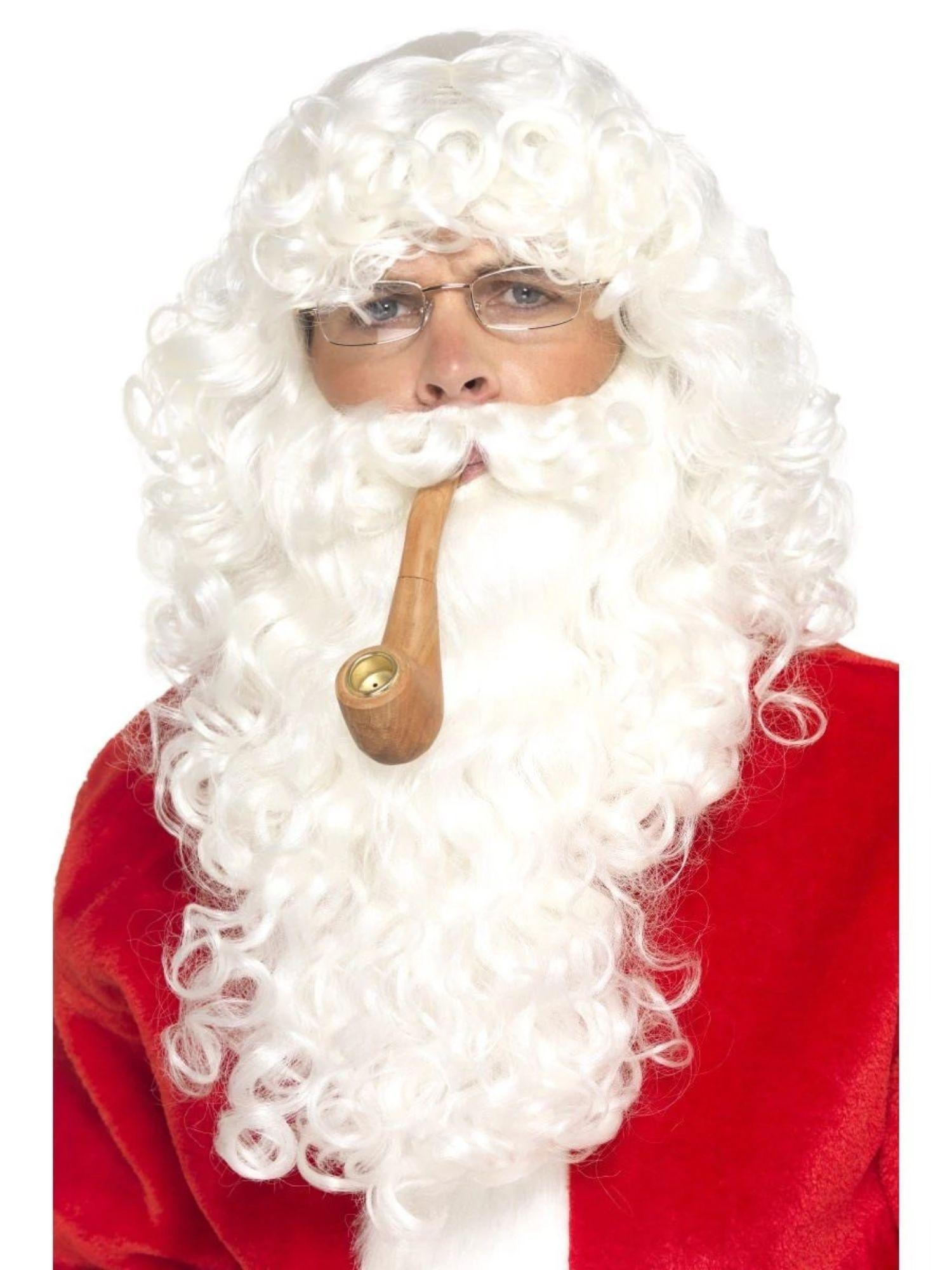 Adult Christmas Fancy Santa Claus Wig   Beard Set Costume Party Dress Accessory