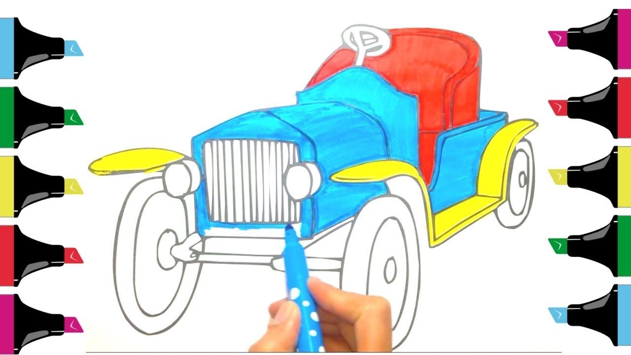 How To Color Car Drawing Kids Kidsparty Drawing