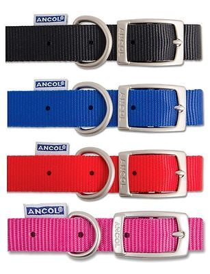 Ancol dog collar plain #nylon #strong adjustable flat buckle 6 #sizes 4 colours,  View more on the LINK: 	http://www.zeppy.io/product/gb/2/281733553350/