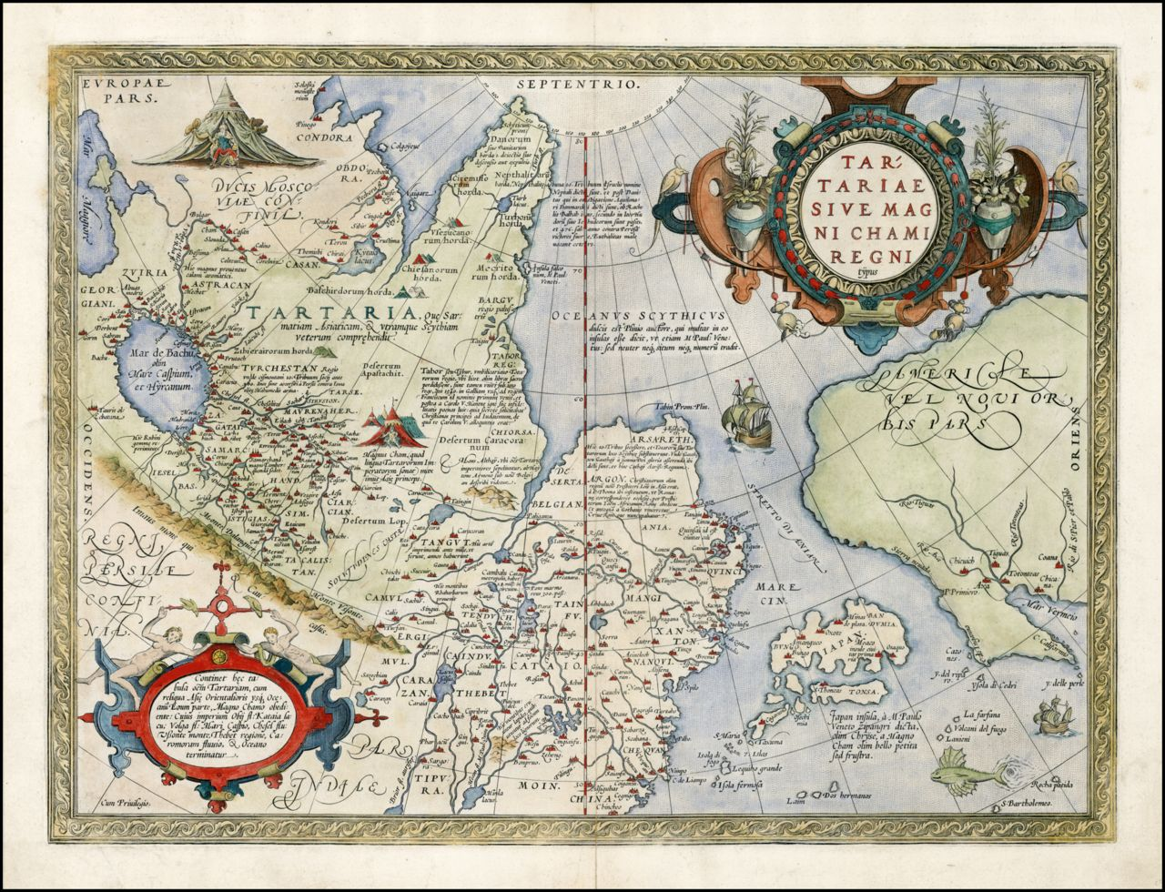 A map of tartaria by ortelius 1570 note the placement of a map of tartaria by ortelius 1570 note the placement of california gumiabroncs Images