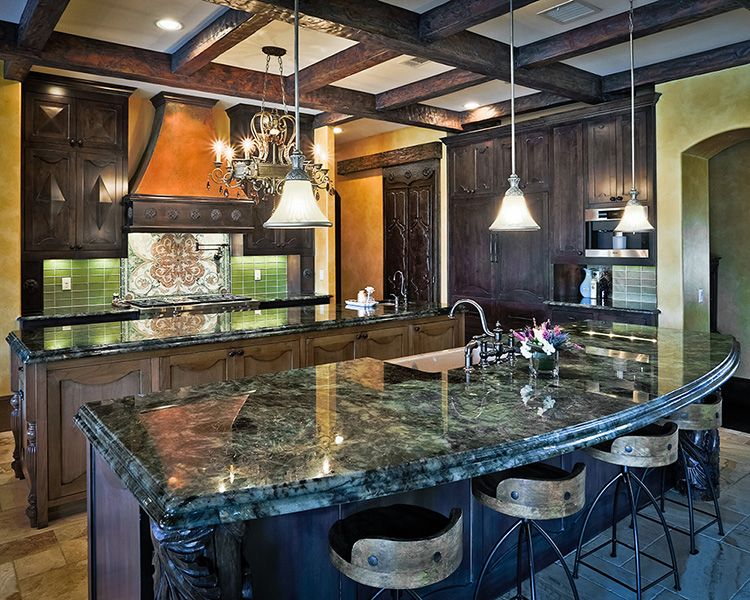 Lemurian Blue Granite Kitchen Countertop Ideas