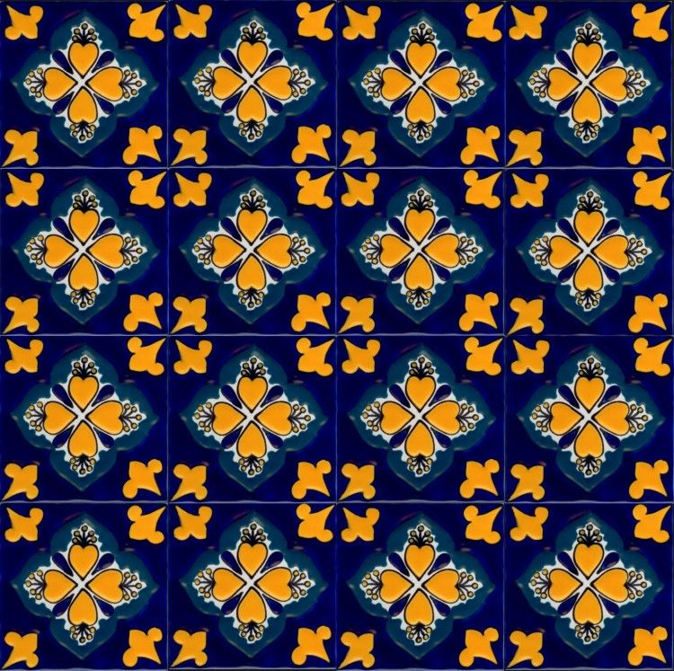 Baroque 8 Traditional Mexican Tile