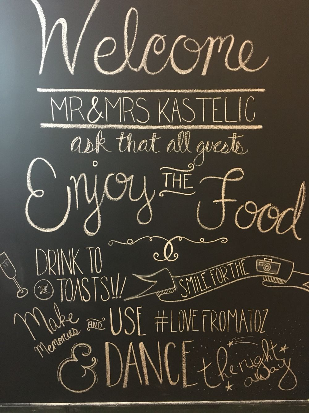 Fun with our chalkboards