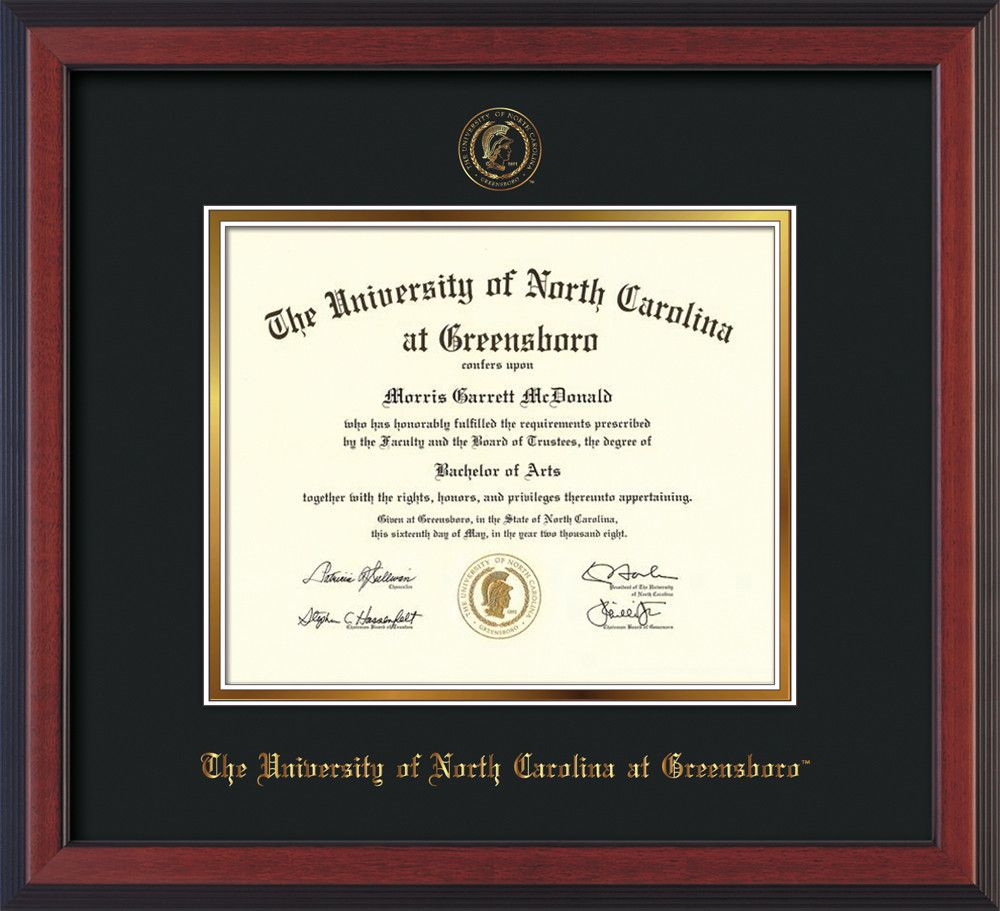 University of North Carolina Greensboro Diploma Frame - Cherry ...