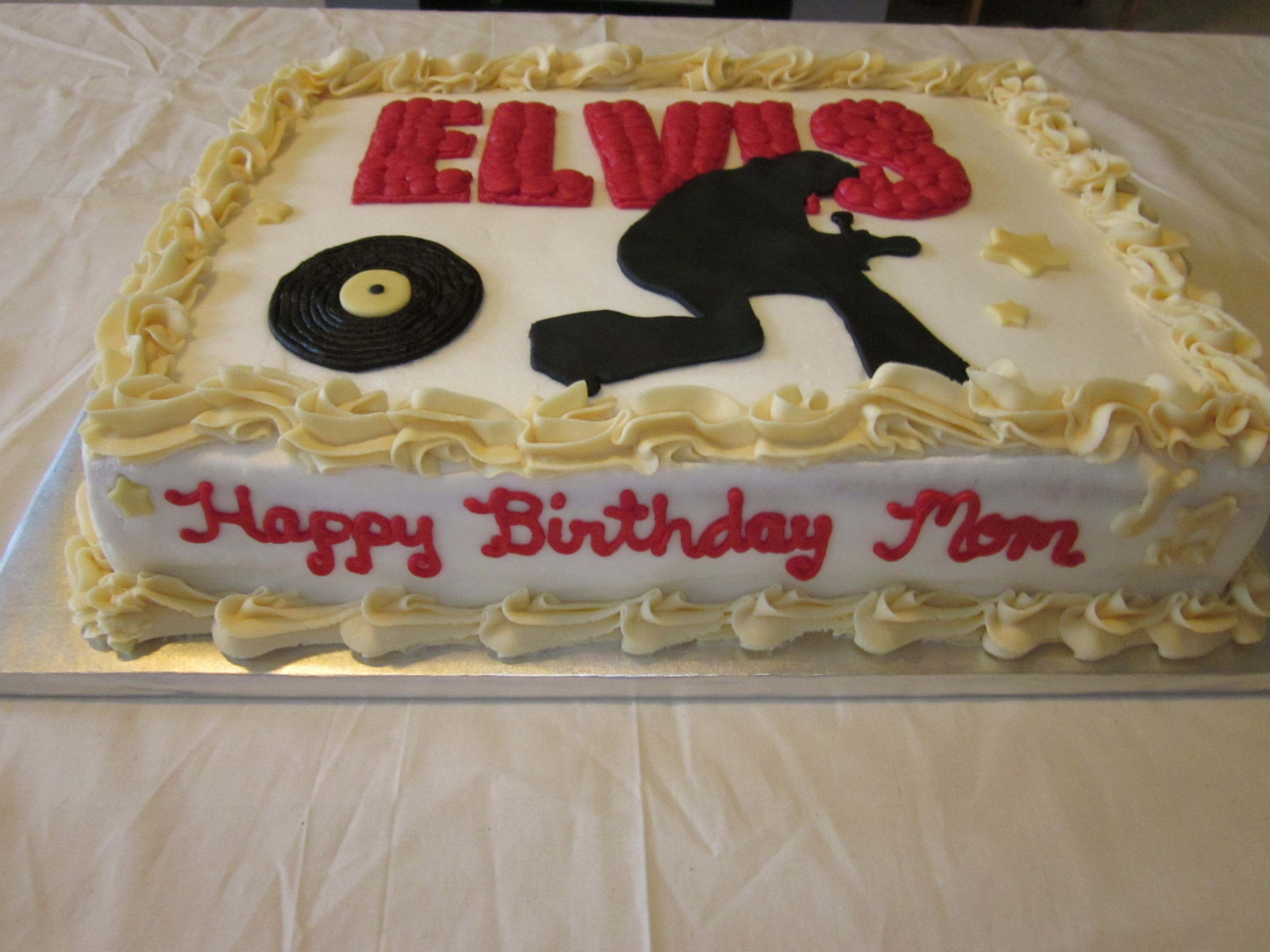 Elvis Presley Birthday Cake Cake Birthday Cakes Pinterest