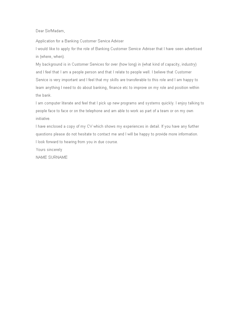 Bank Cover Letter - How to create a Bank Cover Letter ...
