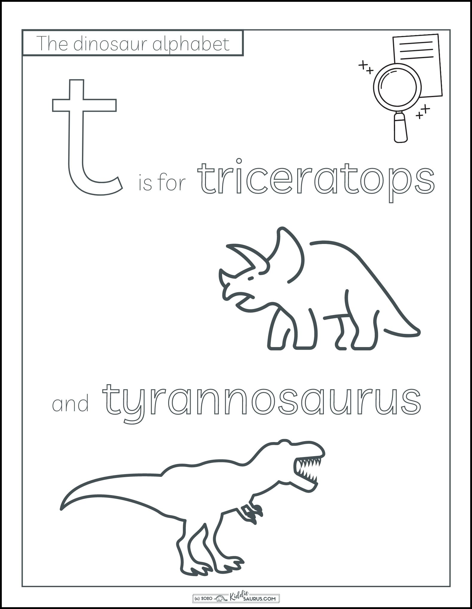 T Is For Triceratops