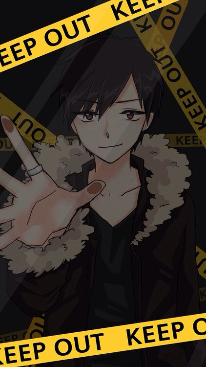 Izaya Kuuun Hot Anime Guy Stuck Behind The Glass Find This Pin And More On Screen Lock Wallpaper