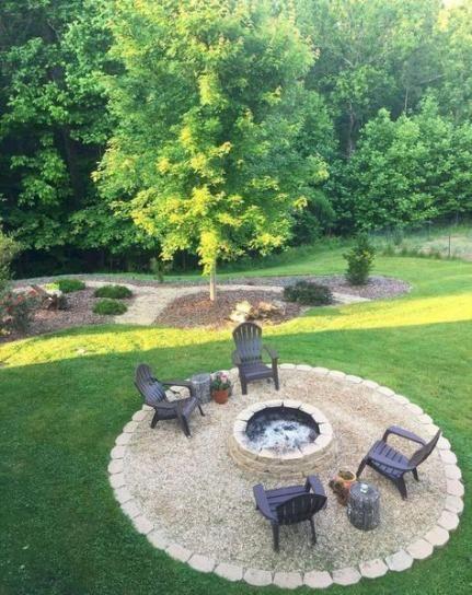 60 Ideas Backyard Fire Pit Decor Awesome #backyard