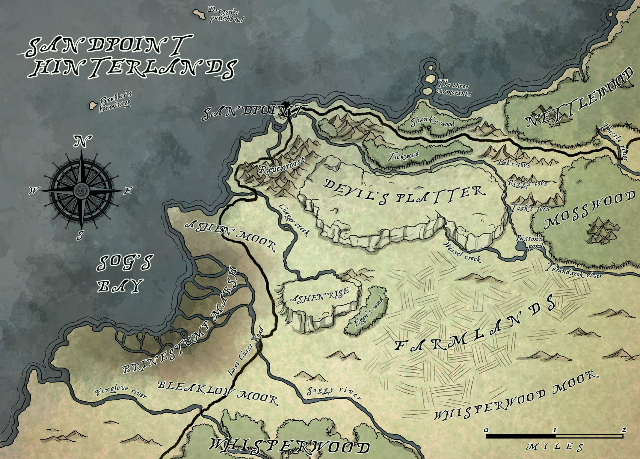 Sandpoint Hinterlands Sandpoint Hinterlands Pathfinder Rise