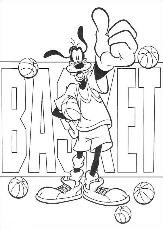 Gratis Goofy Kleurplaten.Kleurplaat Goofy Goofy Basketbalt Kleurplaten Pinterest