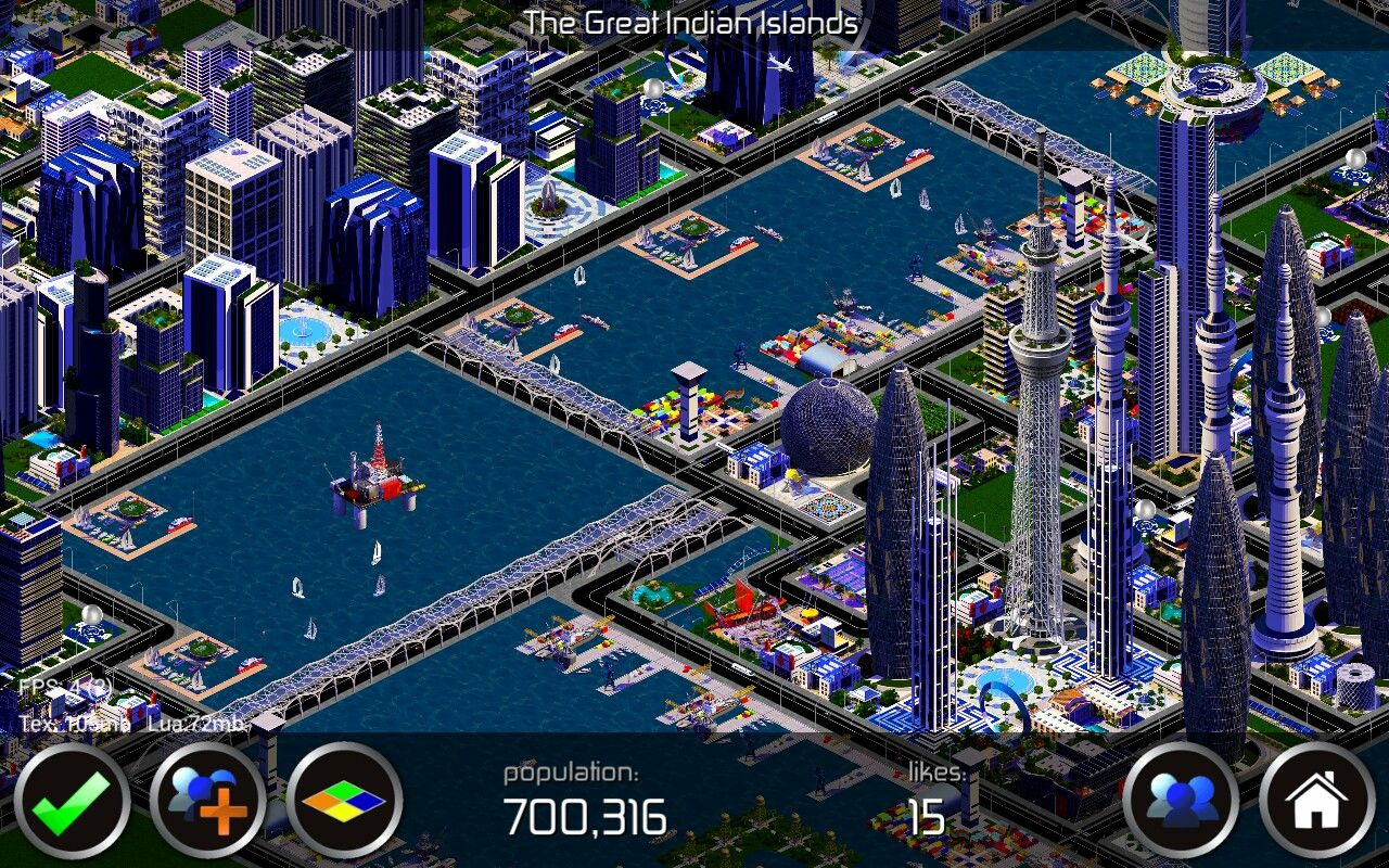 Designer City The Great Indian Islands City Innercity River Complex With Marinas And Ports City Building Game City City Design City Building Game City