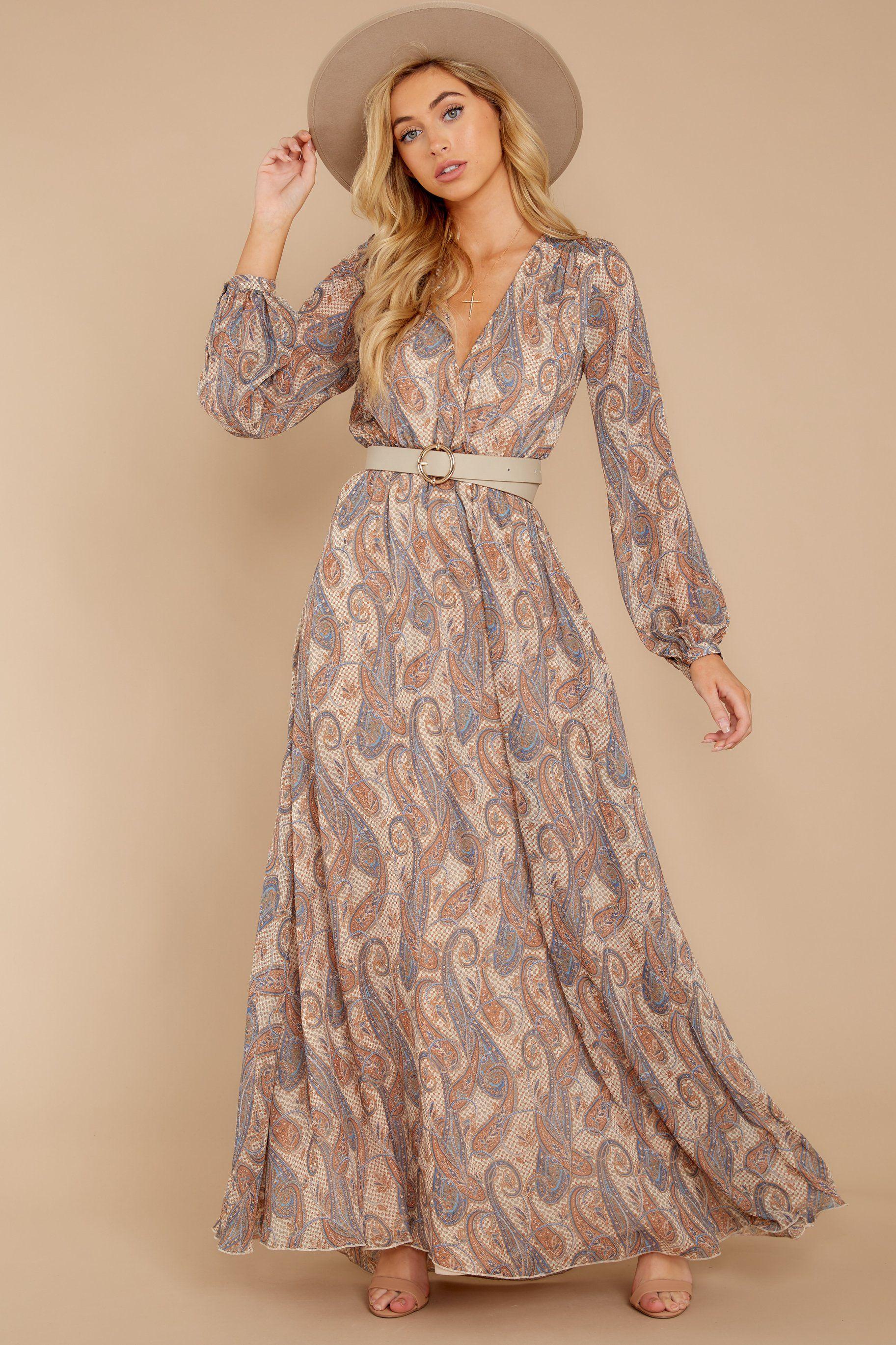 70s Dresses Disco Dress Hippie Dress Wrap Dress Paisley Print Maxi Dress Printed Maxi Dress Disco Dress [ 2738 x 1825 Pixel ]