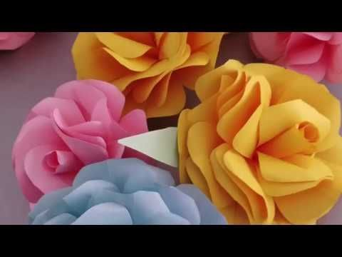 No paint large flower wedding decoration youtube flores no paint large flower wedding decoration youtube junglespirit Images
