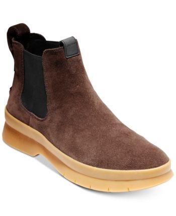 1f7228da3df Cole Haan Men s Pinch Utility Waterproof Chelsea Boots - Brown 11.5 ...