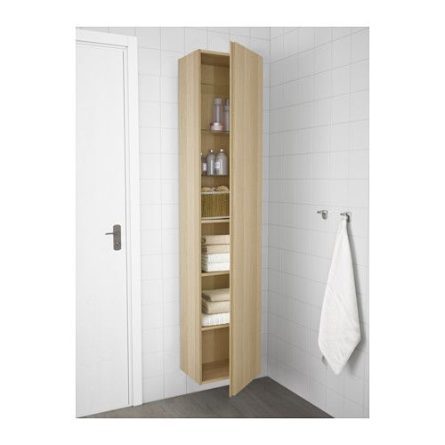 Godmorgon Colonne Effet Chene Blanchi 40x32x192 Cm Ikea Ikea Armoire Rangement Porte Miroir