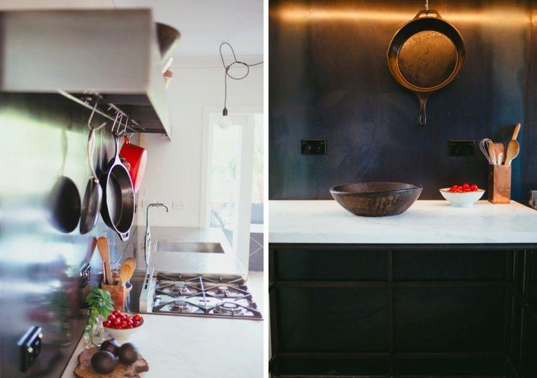 Kitchen of the Week: Blackened Steel, Bohemian Style