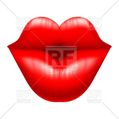 Kiss illustration. Lips charming vector image