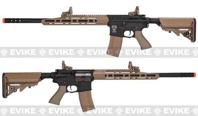 Might just be an airsoft gun, but the hand guard cut is nice, might have to do this with my own rifle someday