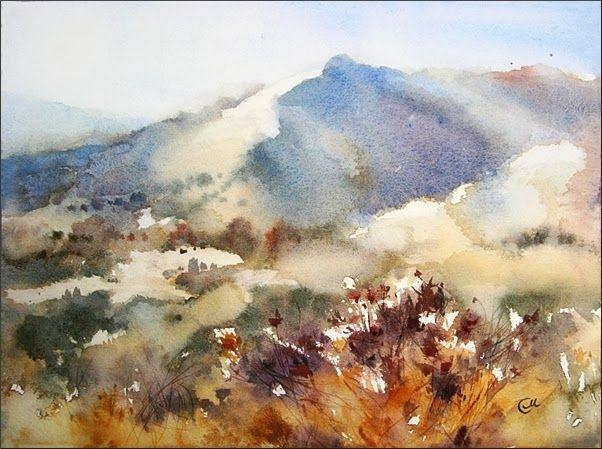 Resultado De Imagen De Loose Landscape Watercolor House