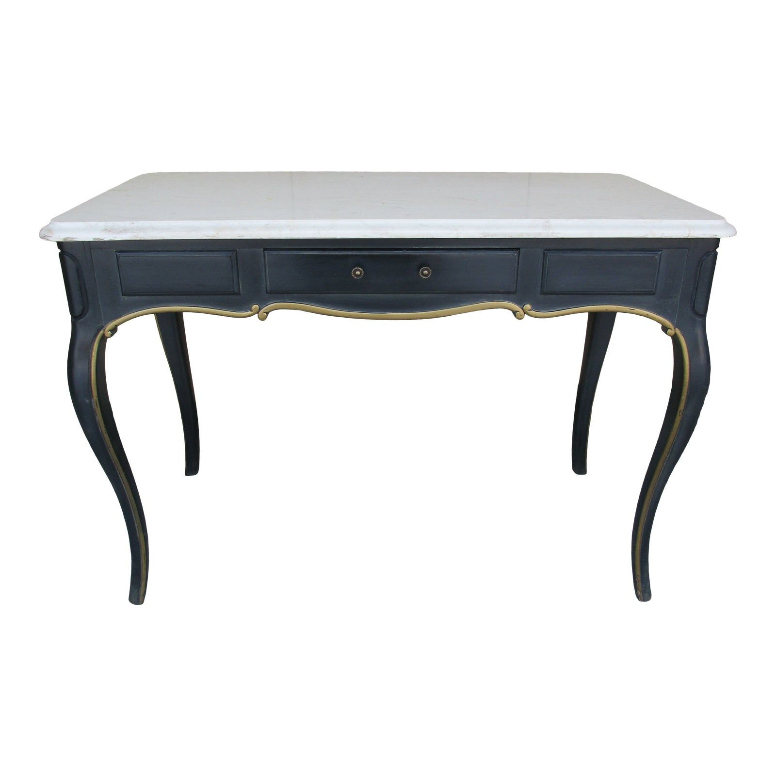French Writing Desk With Marble Top Biltmore Hotel Chairish French Writing Desk French Style Writing Desk Writing Desk