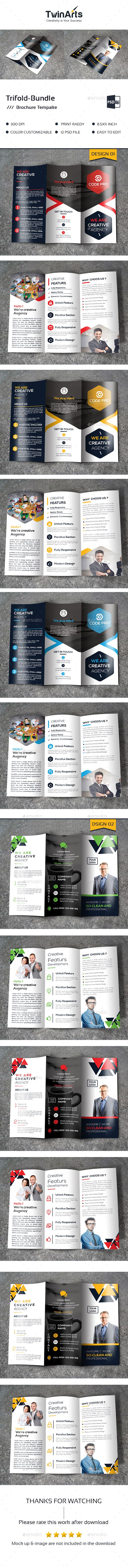 2 Tri Fold Brochure Templates Psd Download Here Https