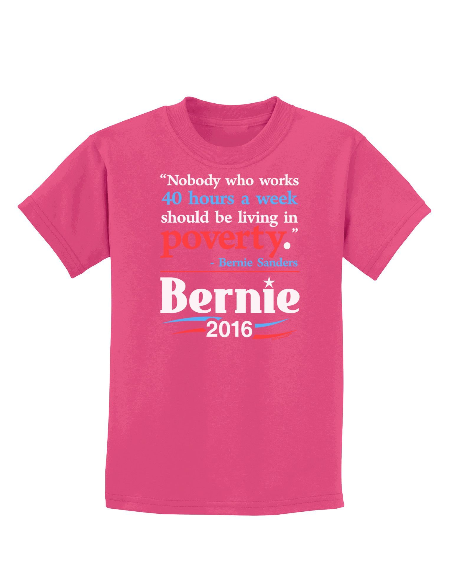 TooLoud Bernie on Jobs and Poverty Childrens Dark T-Shirt