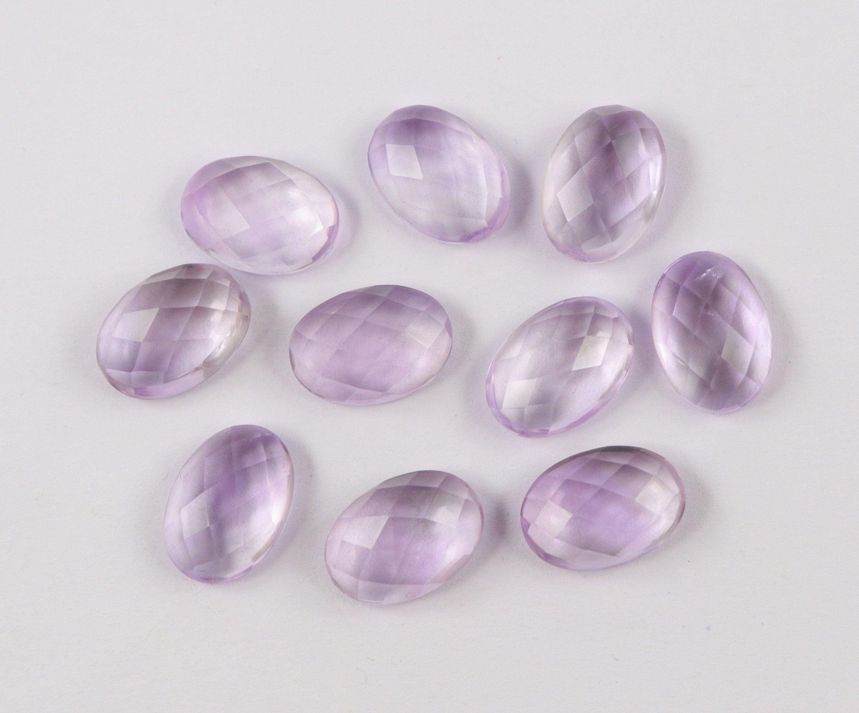 Amethyst Natural Rosecut Semi Precious Loose Jewelry Making Gemstone