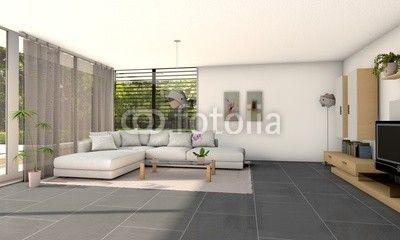 3d helles Wohnzimmer