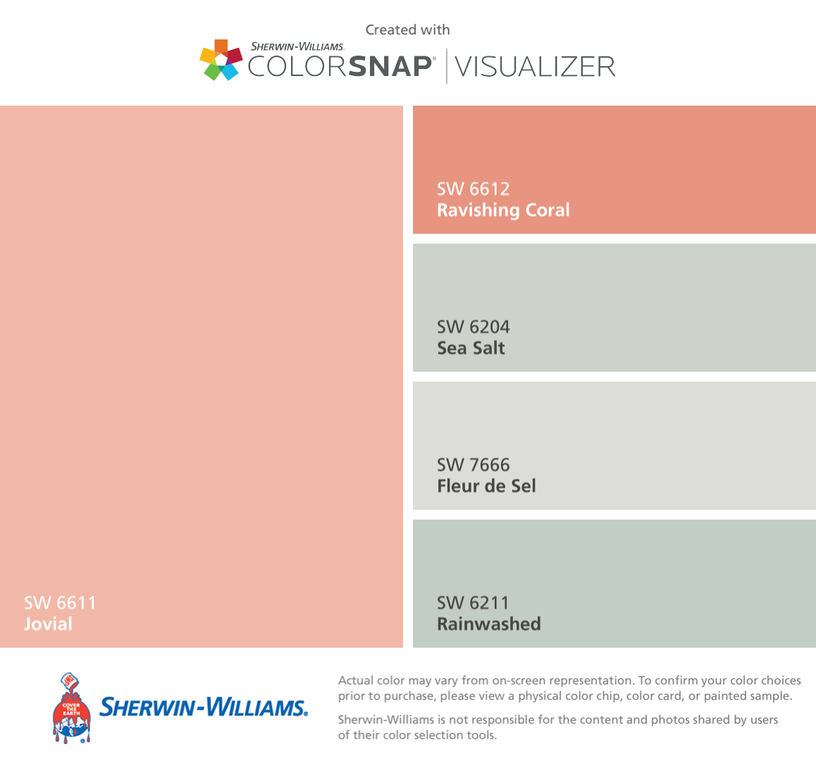 High Quality I Found These Colors With ColorSnap® Visualizer For IPhone By Sherwin Williams:  Jovial