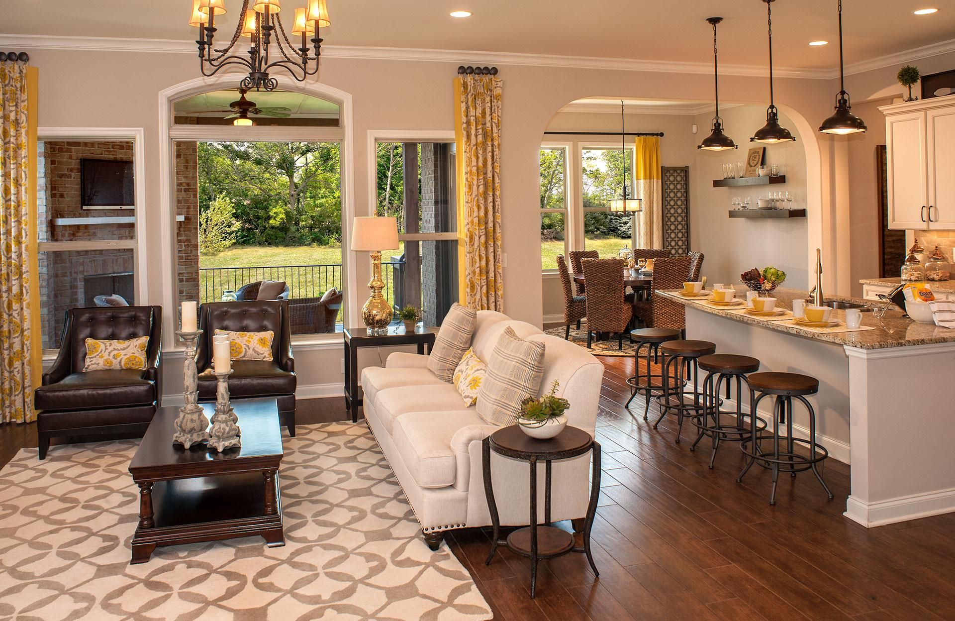 One Of My Faves Open Floor Plan Kitchen Living Room Dining Room Combo Living Room Floor Plans