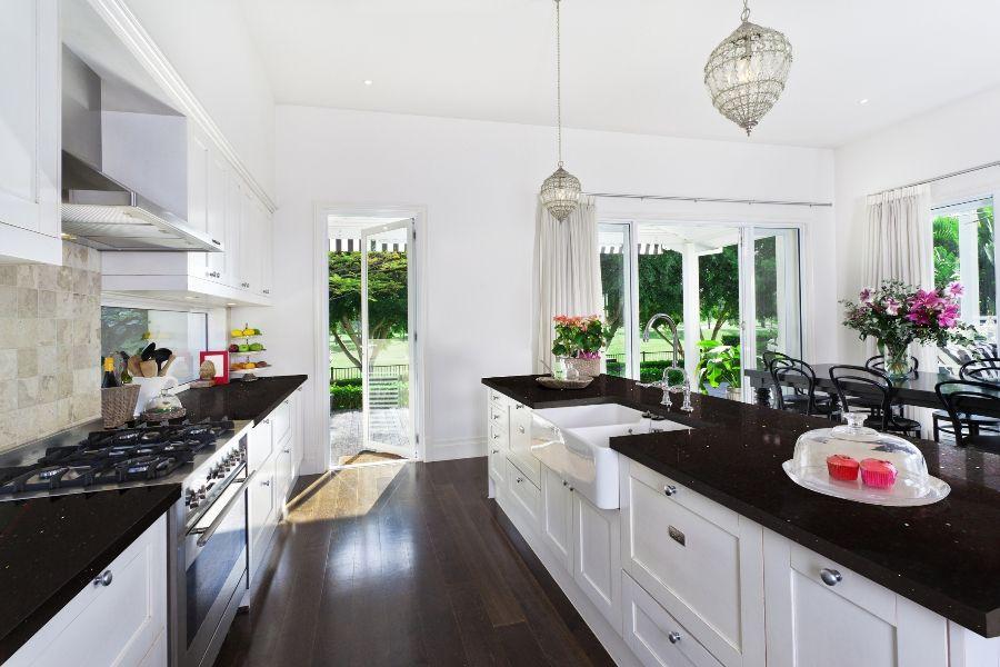 Sparkling Black Quartz Kitchen Black Kitchen Countertops