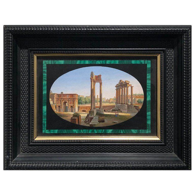 19th Century Italian Micromosaic Of The Roman Forum Mosaic Art Mosaic Artwork Art Decor