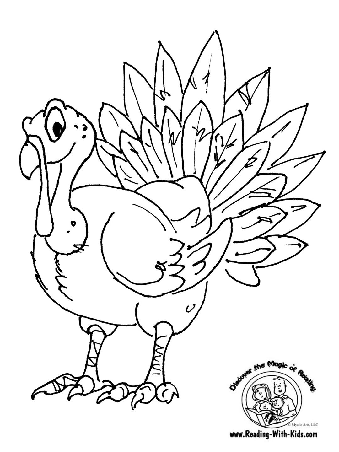 Thanksgiving Turkey Coloring Page 1080x1440 Pixels