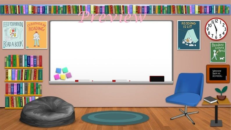 Bitmoji Classroom Template Reading/English Etsy in 2020
