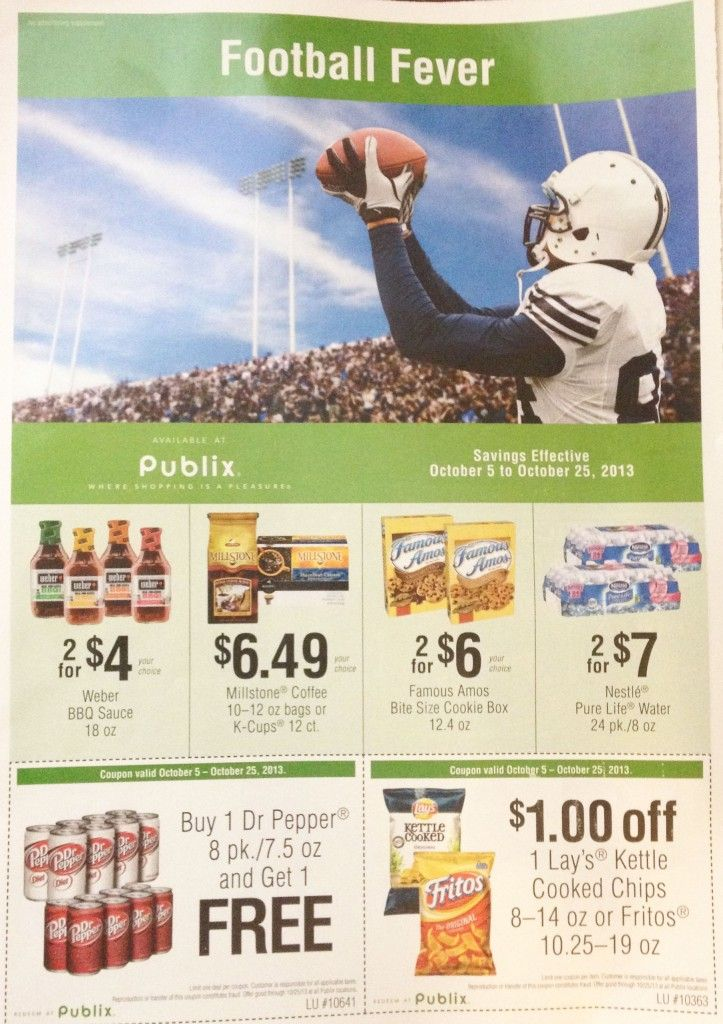 Publix Football Fever Grocery Advantage Flyer Save On Mio Fruit 2o And Del Monte Football Fever Publix Grocery