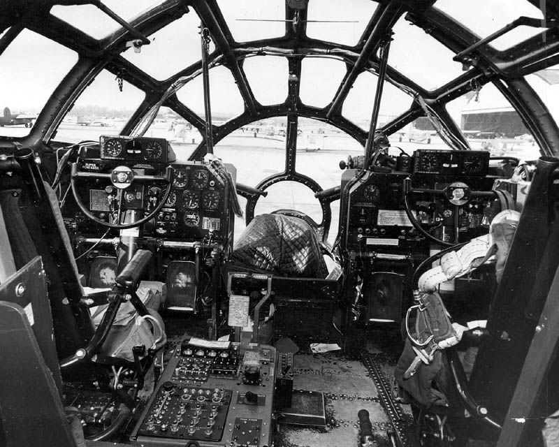 Boeing B 29 Boeing B 29 Cockpit Showing The Pilot And Co Pilot