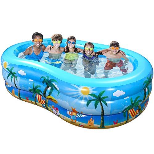 Ibasetoy Inflatable Swimming Pool 95 X 59 X 23 Giant Family Inflatable Pool Sale Backyardequip Com Inflatable Pool Inflatable Swimming Pool Family Inflatable Pool