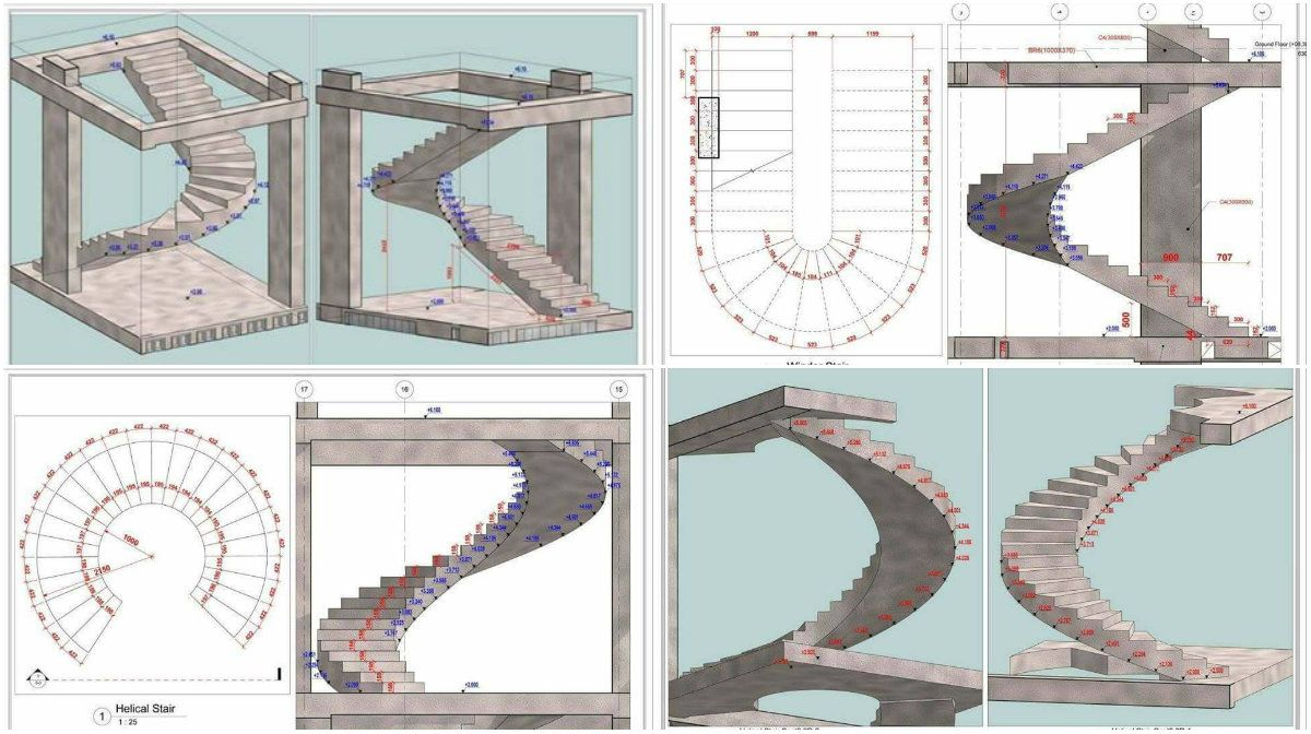 Best Different Forms Of Curved Stairs Planning And Installing 400 x 300