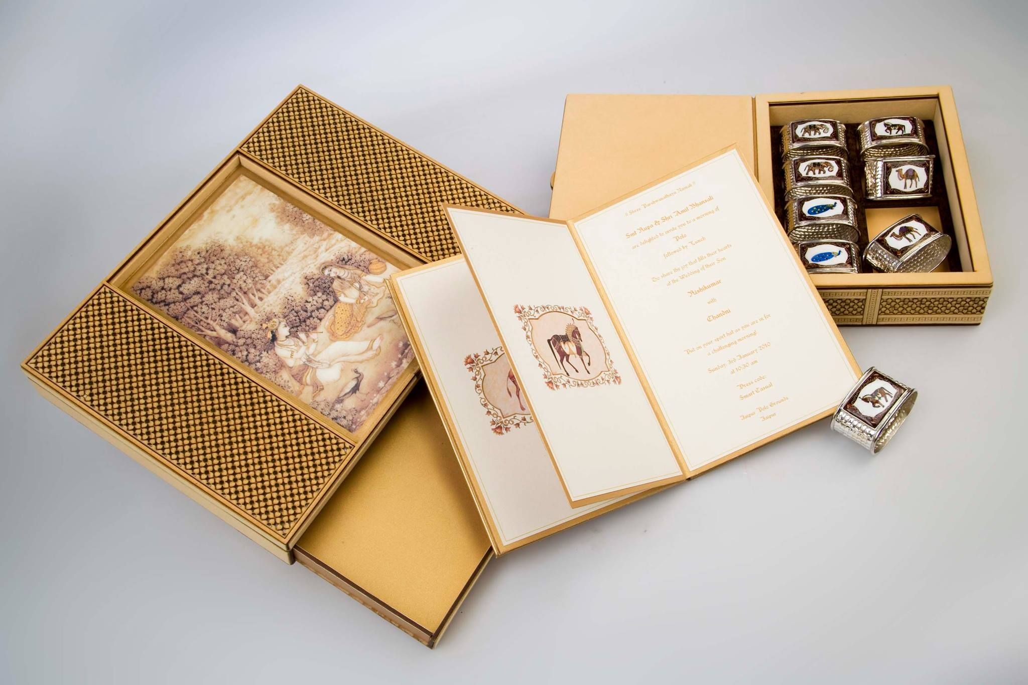 indian wedding invitations california%0A A box of surprises for invites by Kankotri Invites