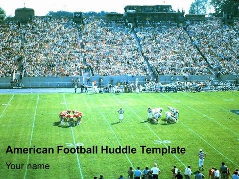 great template showing 2 American Football teams in individual - football powerpoint template