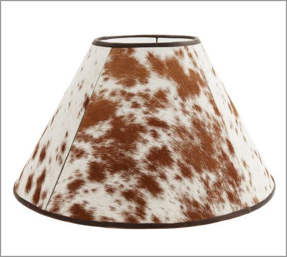 Pb Basic Cowhide Lamp Shade Pottery Barn Cowhide Lamps