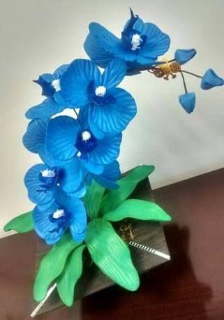 Resultado De Imagem Para Flores De Eva Passo A Passo Orquidea