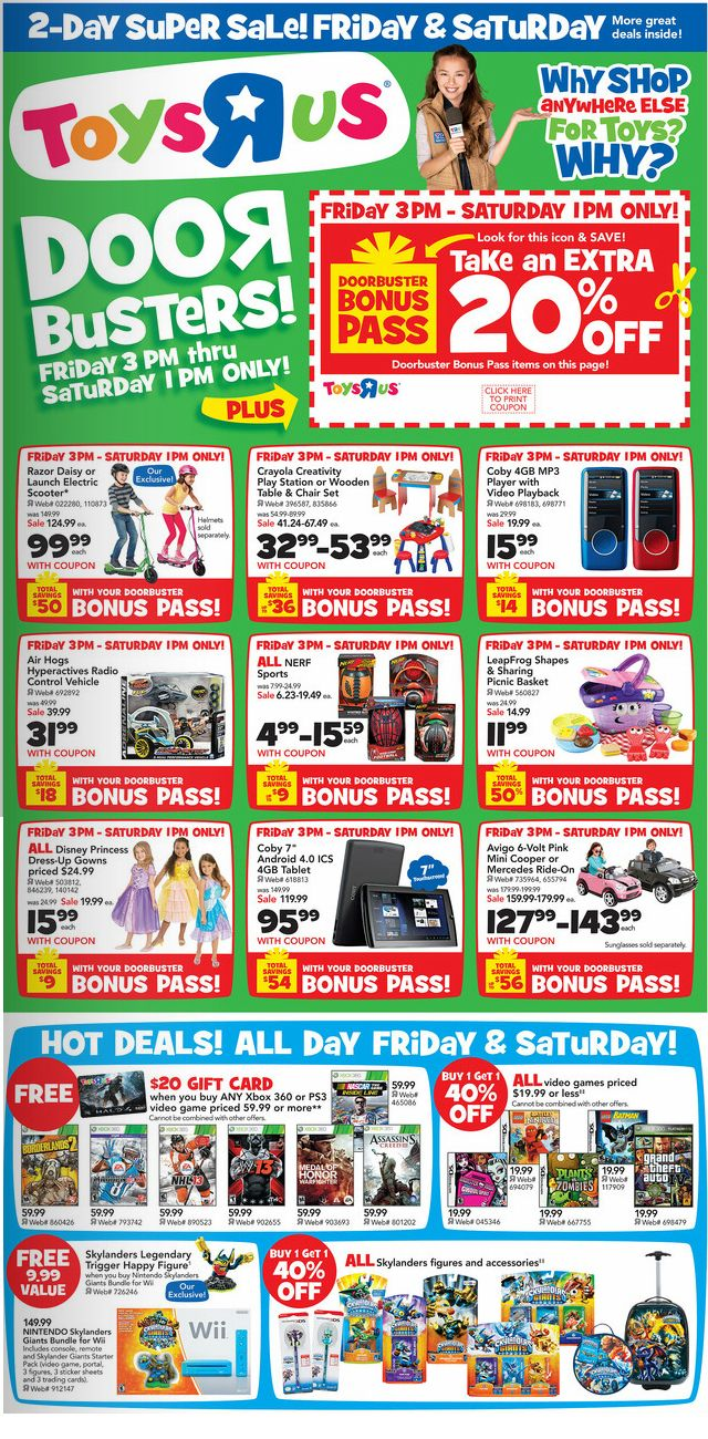 toys r us super sale 20 gift card with purchase of any xbox 360 or ps3 video game priced 59. Black Bedroom Furniture Sets. Home Design Ideas