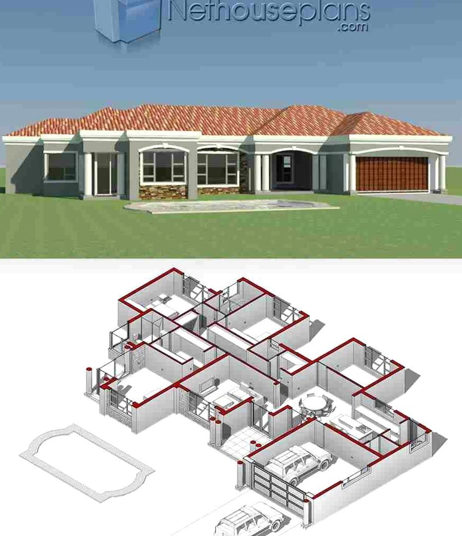 House Plans In South Africa For Sale Online Buy Modern Double Storey 3 Bedroom Floor Plans 4 Bedro In 2020 House Plans For Sale House Plans South Africa My House Plans